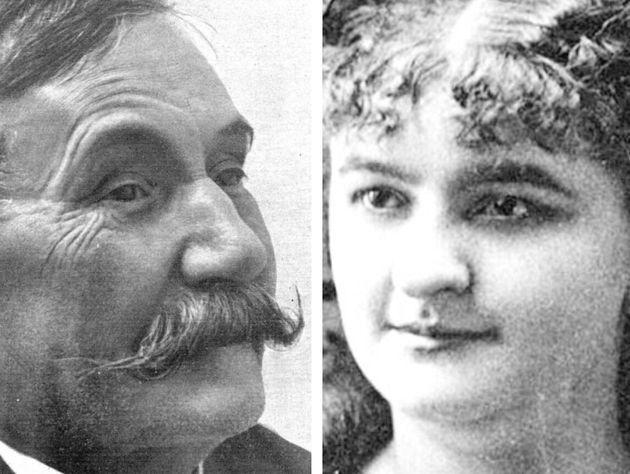 Benito Pérez Galdós y Emilia Pardo