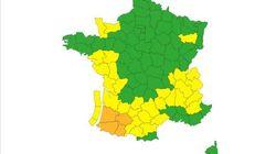 Quatre départements du Sud-ouest en vigilance orange aux
