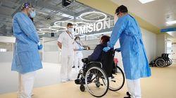Llega la primera paciente al hospital Isabel Zendal: