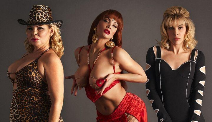 Isabel Torres, Jedet y Daniela Santiago en 'Veneno'.