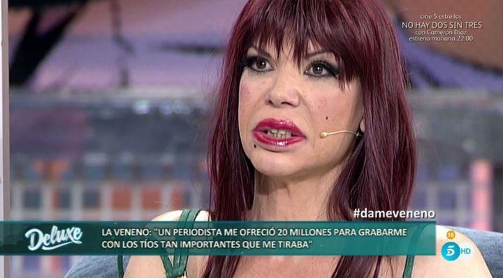 La Veneno en su última aparición televisiva en 'Sábado Deluxe'.