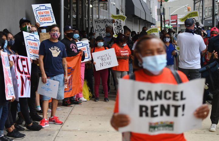 Tenants rights groups have demonstrated in cities across the U.S. for state- and national-level rent relief.