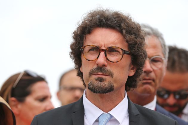 MADDALONI, ITALY - 2019/07/09: The Italian Minister of Infrastructure and Transport, Danilo Toninelli,...