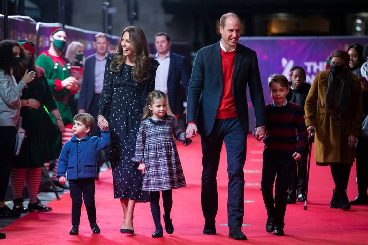 "It was the first time the family of five has appeared together at a ""red carpet"" event."