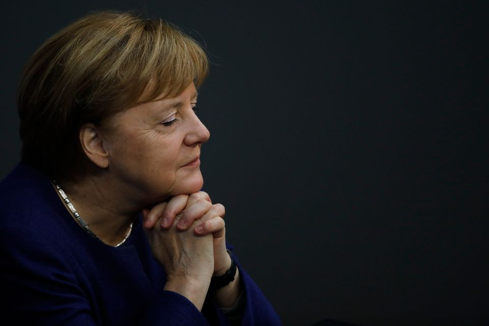 German Chancellor Angela Merkel attends the debate about Germany's budget 2021, at the parliament Bundestag...