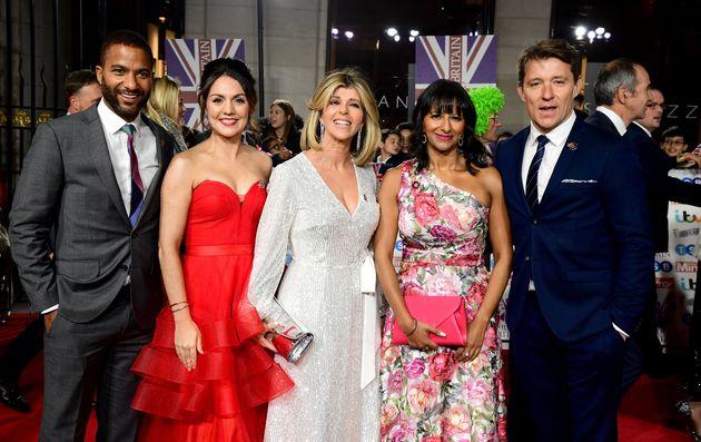 (L-R) Good Morning Britain's Sean Fletcher, Laura Tobin, Kate Garraway, Ranvir Singh and Ben