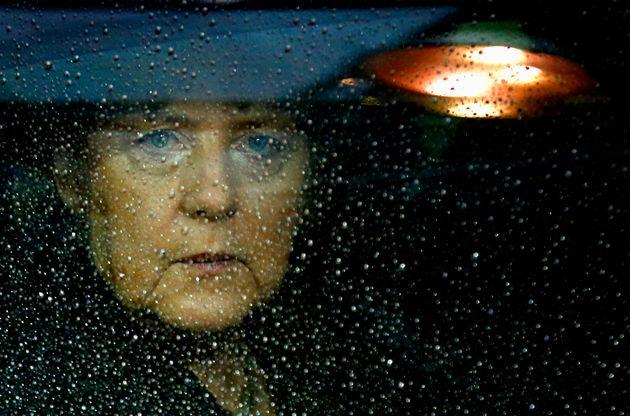 Germany's Chancellor Angela Merkel arrives at the European Union (EU) council headquarters for an EU...