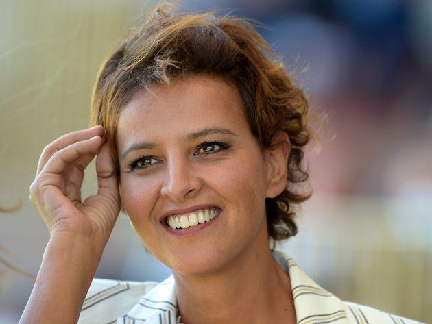 Najat Vallaud-Belkacem lors des universités d'été du Medef, le 27 août
