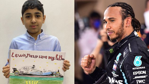 Un petit garçon du Bahreïn a écrit au champion de Formule 1 Lewis Hamilton dans l'espoir que celui-ci,...