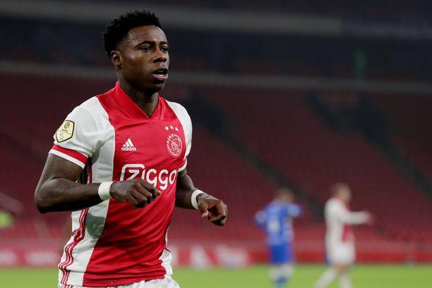 International avec l'équipe des Pays-Bas et ailier à l'Ajax Amsterdam, Quincy Promes est...