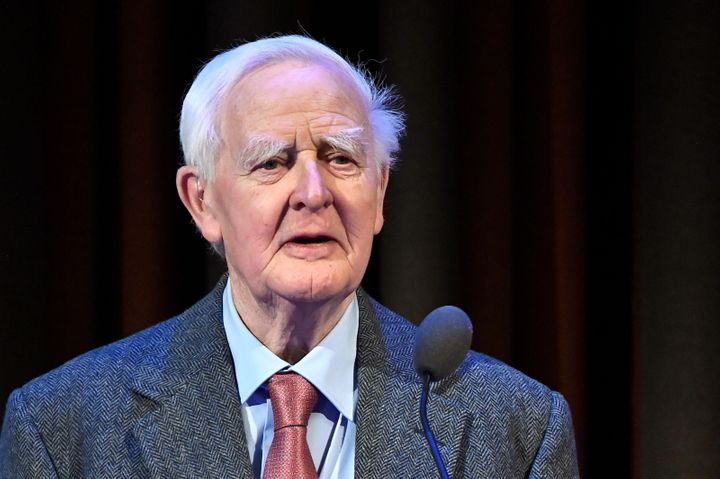 "<a href=""https://www.huffpost.com/topic/john-le-carre"" target=""_blank"">John le Carr&eacute;</a>, the novelist of espionage, s"