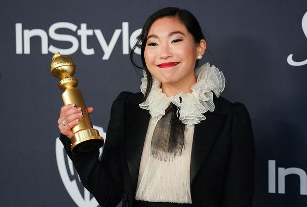 ゴールデングローブ賞のアフターパーティに参加したオークワフィナ(撮影=2020年1月5日)