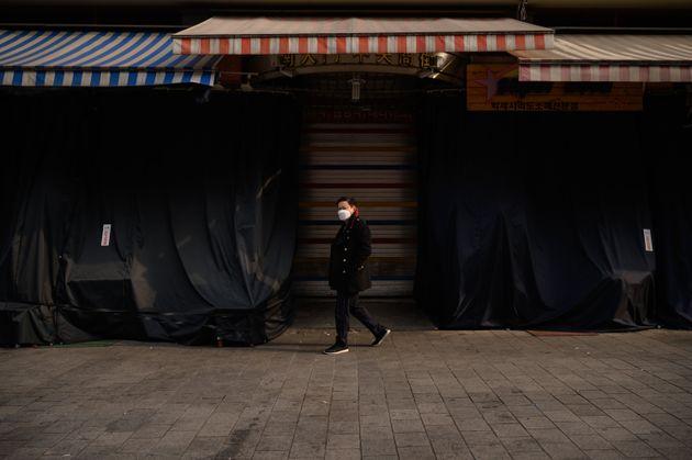 서울 남대문시장이 한산한 모습을 보이고 있다. 2020년