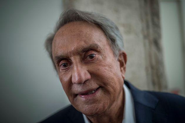 Emilio Fede, Italian writer and journalist, presents his latest book - Se tornassi ad Arcore - in Rome...