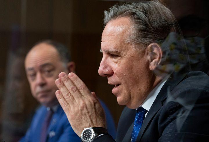 François Legault et Christian Dubé, 11 décembre 2020