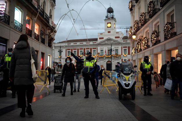 El centro de Madrid el pasado 7 de