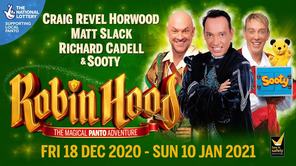 Craig Revel Horwood stars in Robin Hood at the New Victoria Theatre in