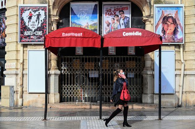 Un cinéma Gaumont fermé à Montpellier, le 13 novembre