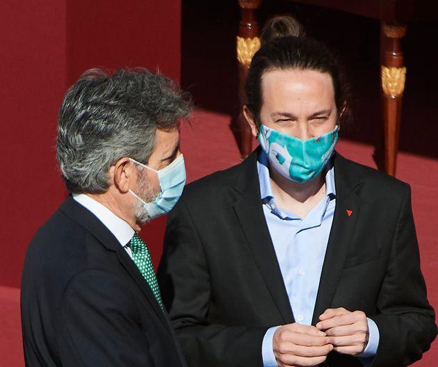 El presidente del CGPJ, Carlos Lesmes, y el vicepresidente segundo, Pablo