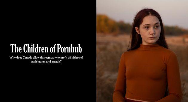 폰허브의 아동 성착취물 실태를 고발한 뉴욕 타임스 특집