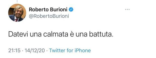 Il Tweet di Roberto