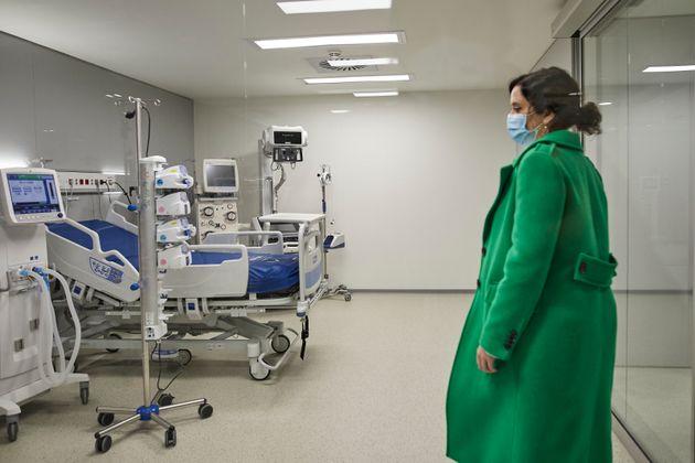 Isabel Díaz Ayuso, en la inauguración del hospital Zendal (J.Hellín– POOL/Europa...