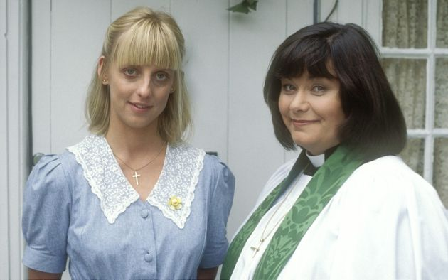 The Vicar Of Dibley's Alice Tinker (Emma Chambers) and Geraldine Granger (Dawn