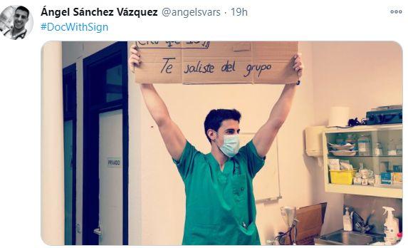 El tuit de Ángel Sánchez