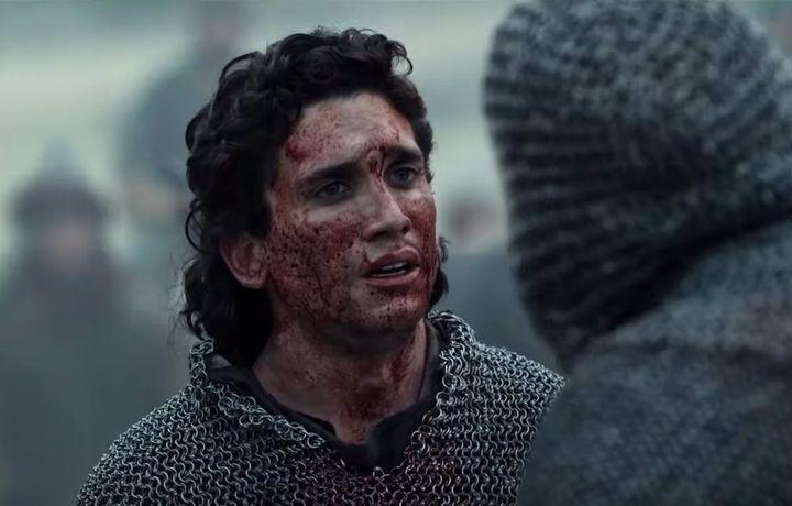 Jaime Lorente, en una de las batallas de 'El Cid'.
