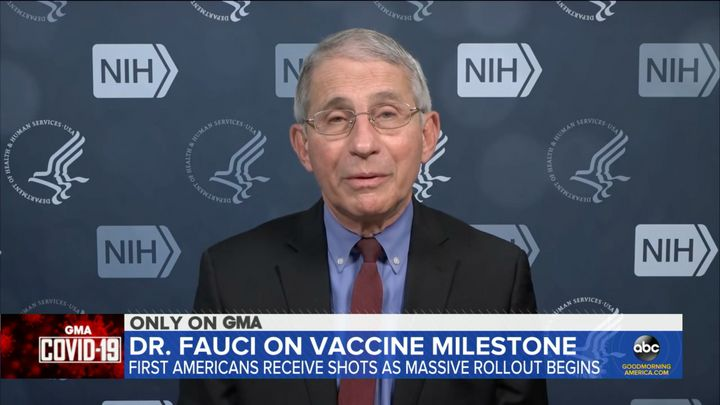 """Dr. Anthony Fauci on Tuesday said he believes that President-elect Joe Biden and his team should be vaccinated for COVID-19 """""""
