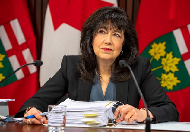 Auditor General of Ontario Bonnie Lysyk answers reporters' questions at the Ontario legislature in Toronto...