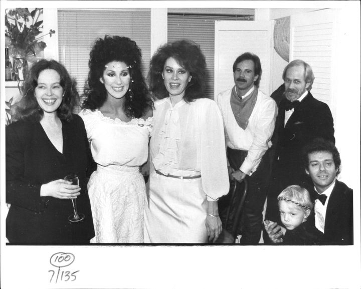 """Left to right, actors Sandy Dennis, Cher and Karen Black at the opening of the play """"Come Back to the Five and Dime, Jimmy De"""