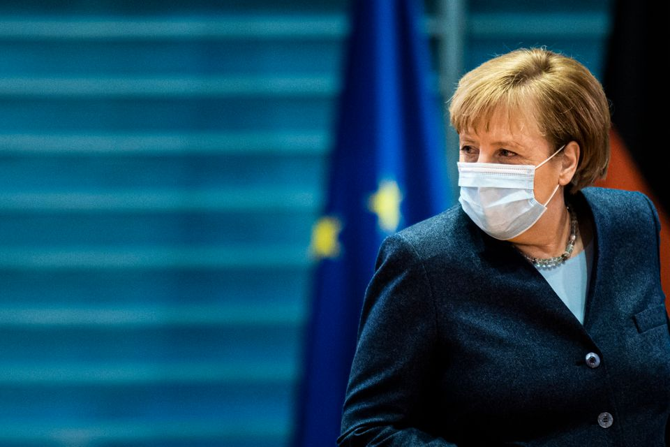 German chancellor Angela Merkel, pictured on Wednesday,has warned on that January and February...