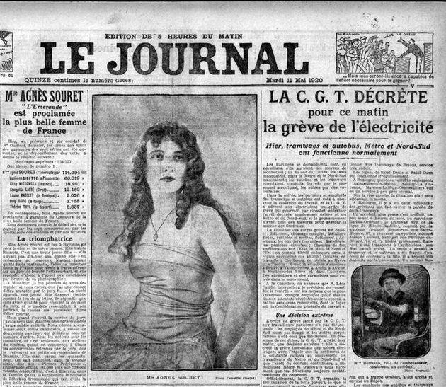 Agnès Souret avait obtenu 195.000 voix sur 258.000 votants pour s'adjuger le premier titre de Miss