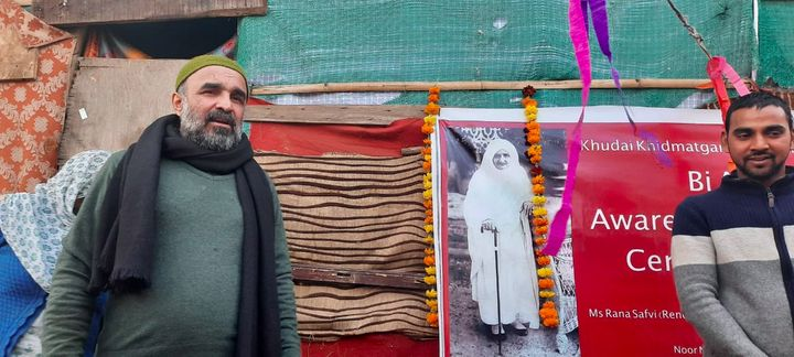 Khan (left) is seeking to revive the Khudai Khidmatgars, a nonviolent resistance movement from the 1930s.