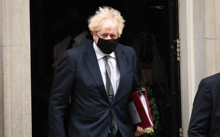 Prime Minister Boris Johnson leaves 10 Downing Street