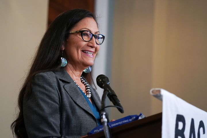 Rep. Deb Haaland, an enrolled member of the Pueblo of Laguna tribe, would make history as the first Native American to lead t