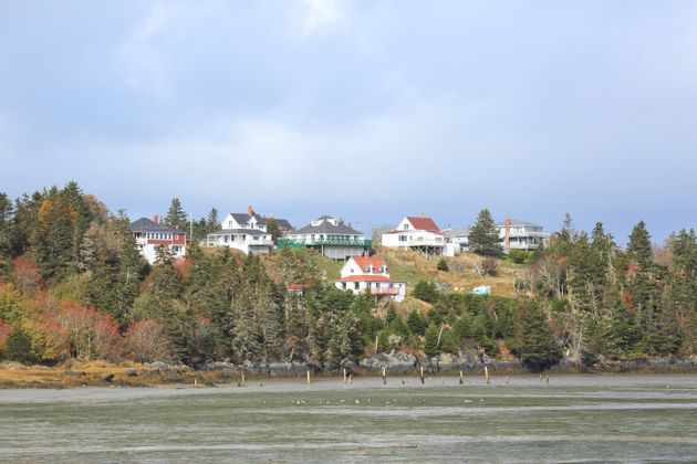 Houses overlooking False Harbour near Yarmouth, Nova Scotia. The region has seen the sharpest house price...