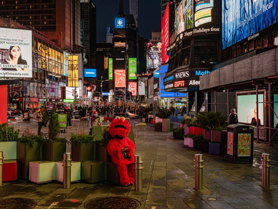 Times Square on the evening of Dec. 7.