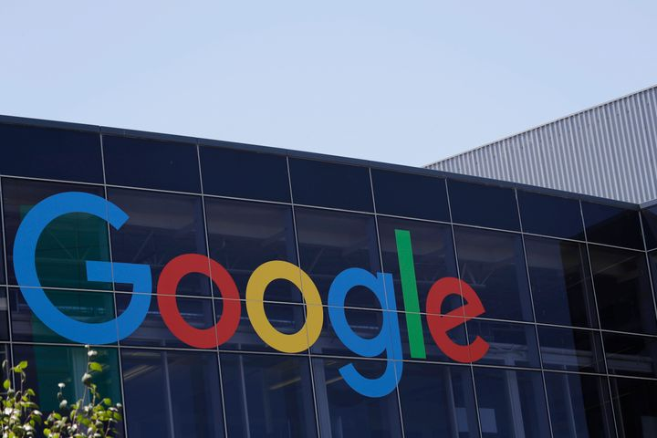 FILE - This July 19, 2016, file photo shows the Google logo at the company's headquarters in Mountain View, Calif. Software d