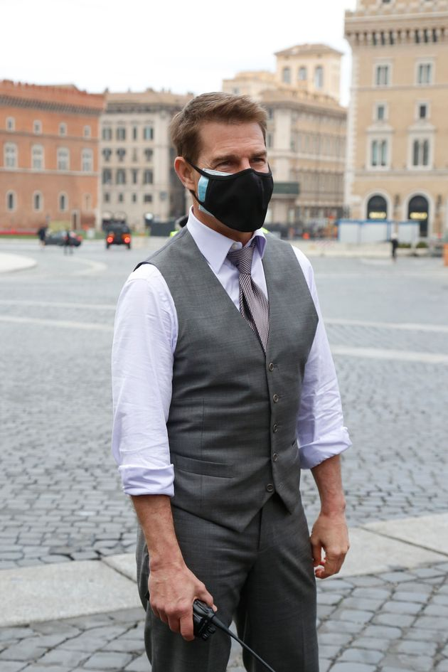 Tom Cruise pictured in Italy last
