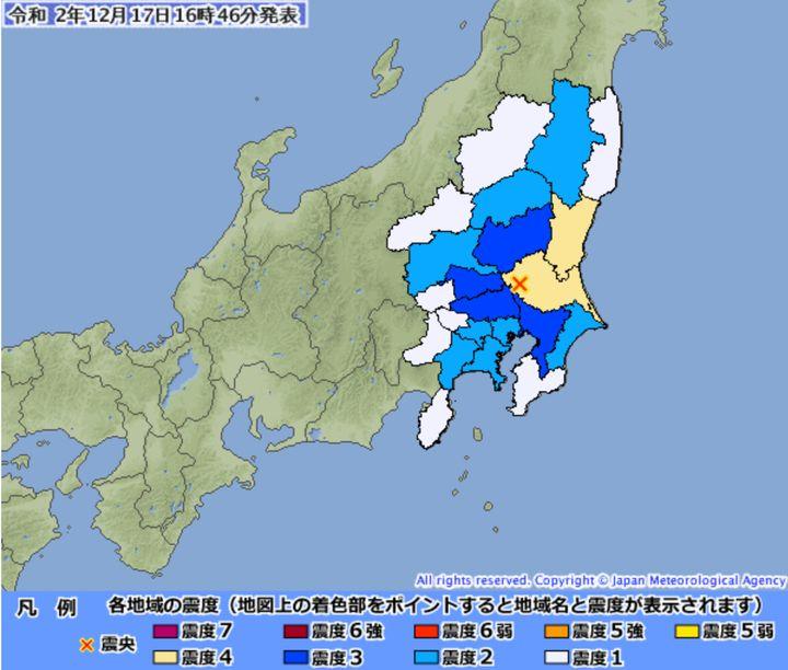 地震情報】茨城県で震度4 | ハフポスト