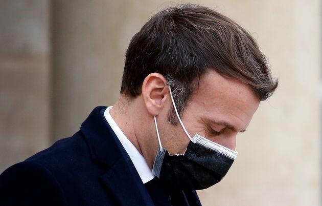 Emmanuel Macron à l'Élysée le 16 décembre