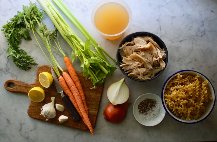 A few basic ingredients can make a hearty, comforting chicken soup.