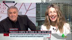 La inesperada pregunta de Ferreras que provoca una carcajada en la ministra Yolanda