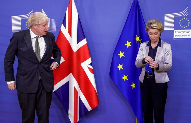 Boris Johnson and European Commission president Ursula von der Leyen during Brexit talks last
