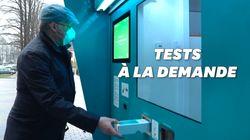 En Lettonie, une station automatisée pour réaliser son test Covid