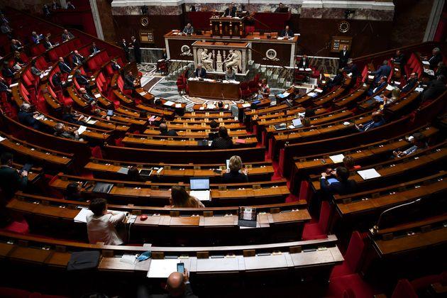 Une vue générale à l'intérieur de l'Assemblée nationale, à...