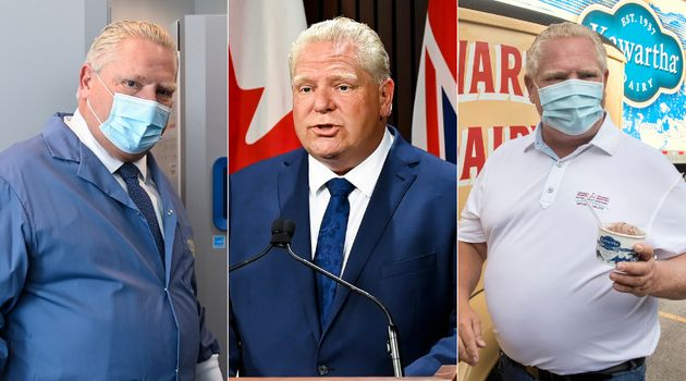Ontario Premier Doug Ford tours a vaccine distribution site, makes an announcement at Queen's Park and...