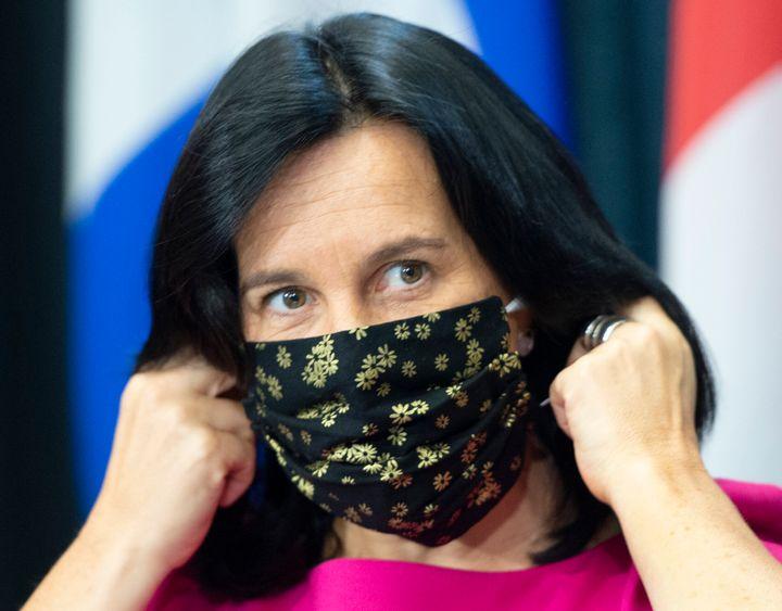 La mairesse de Montréal Valérie Plante lors d'une conférence de presse en septembre dernier.